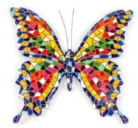 "6"" Multicolor Mosaic Garden Buttefly Figurine"