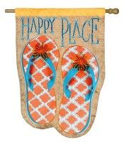"""44"""" x 28"""" Happy Place Flip Flop Flag"""