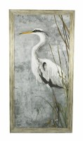 "50.5"" x 26.5"" White Heron Gray 2 Gel"