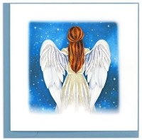 """6"""" x 6"""" Quilling Angel Card"""