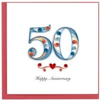 """6"""" x 6"""" Quilling 50th Anniversary Card"""