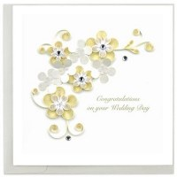 """6"""" x 6"""" Quilling Wedding Card"""