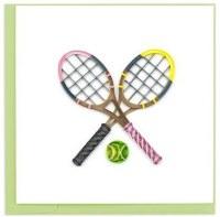 "6"" x 6"" Quilling Tennis Raquets Card"