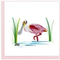 """6"""" x 6"""" Quilling Spoonbill Card"""