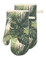 "12"" Set of 2 Palm Leaves Oven Mitts"