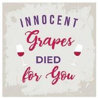 "5"" Square Innocent Grapes Paper Beverage Napkins"