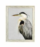 """30.5"""" x 24.5"""" Photo Black Beak Heron Left Framed"""