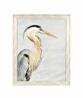 """30.5"""" x 24.5"""" Photo Black Beak Heron Right Framed"""
