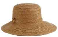 "13"" Toast Bamboo Face Saver Brim Hat"
