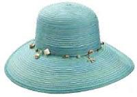 """15"""" Aqua Shell Band Hat"""