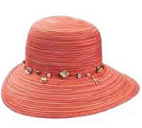 """15"""" Coral Shell Band Hat"""