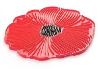 "8"" Red Silicone Poppy Flower Trivet"