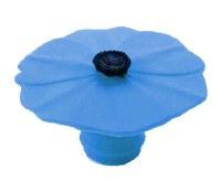 """2"""" Blue Silicone Poppy Flower Bottle Stopper"""