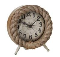 "6"" Round Rope Desk Clock"
