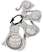"4"" Set of 4 Silver Cat Measuring Spoons"