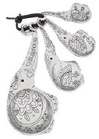 "5"" Set of 4 Silver Elephant Measuring Spoons"