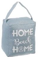 "5"" Blue Home Beach Home Fabric Door Stopper"