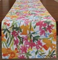 """72"""" x 15"""" April Flowers Table Runner"""