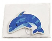 "4"" Blue and White Dolphin Air Freshener"