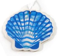"4"" Blue and White Scallop Air Freshener"