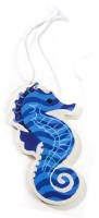 "4"" Blue and White Seahorse Air Freshener"