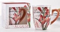 12 oz. August Flower Ceramic Mug