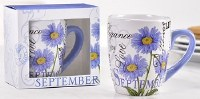 12 oz. September Flower Ceramic Mug