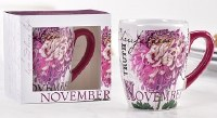 12 oz. November Flower Ceramic Mug