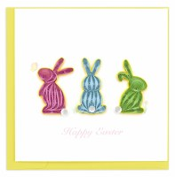 """6"""" x 6"""" Quilling Easter Bunnies Card"""