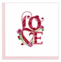 """6"""" x 6"""" Quilling Love Card"""