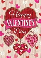 "40"" x 28"" Happy Valentine's Day Hearts Flag"