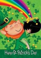 "40"" x 28"" St. Patrick's Day Leprechaun Flag"