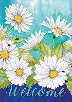 """40"""" x 28"""" Welcome Daisies Flag"""