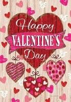 """18"""" x 12"""" Mini Happy Valentine's Day Hearts Flag"""