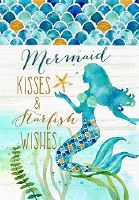 "18"" x 12"" Mini Mermaid Kisses Flag"