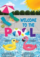 "18"" x 12"" Mini Welcome to Pool Flag"