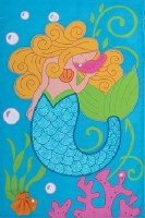 "18"" x 12"" Mini Mermaid Glitter Flag"