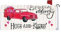 """7"""" x 19"""" Special Delivery Hugs and Kisses Mailbox Cover"""