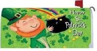 "7"" x 19"" St. Patrick's Day Leprechaun Mailbox Cover"