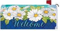 "7"" x 19"" Welcome Daisies Mailbox Cover"