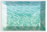 "4"" x 6"" Glass Rectangular Beach Soap Dish"