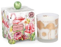 14 oz. Glass Flamingo Candle