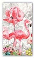 """8"""" x 4"""" Flamingo Paper Guest Towels"""