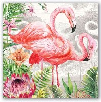 "7"" Square Flamingo Luncheon Napkins"