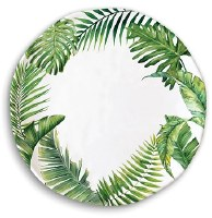 "11"" Round Palm Fronds Melamine Plate"