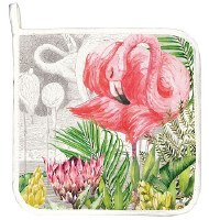"9"" Square Flamingo Pot Holder"