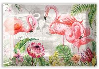 "4"" x 6"" Glass Flamingo Soap Dish"