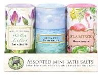 10.5 oz Set of 3 Mini Tropical Theme Bath Salts