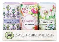 10.5 oz Set of 3 Mini Floral Theme Bath Salts