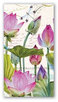 """8"""" x 4"""" Water Lilies Paper Guest Towels"""